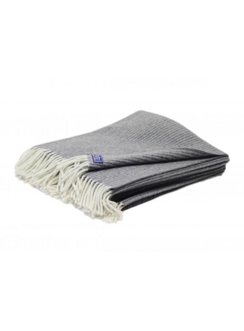 Plaid rigato disponibile in diversi colori 100% lana