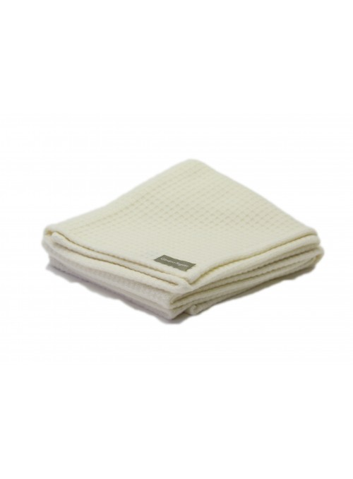 Wool honeycomb cradle blanket in different colours