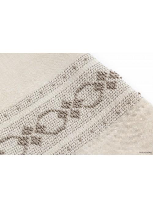 Set di due asciugamani in tela di lino grezza