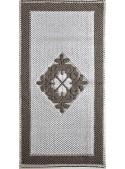 "Cotton carpet from Sardinian craftmanship ""Rombo fiorito centrale"""