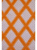 "Cotton carpet from Sardinian craftmanship ""Griglia"""