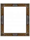 Rovescia silver and brown wooden frame
