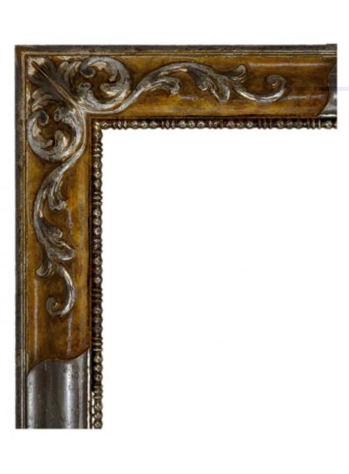 Cornice in legno Rovescia argento e marrone