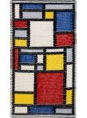 "Tappeto sardo in cotone ""Mondrian"""