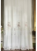 """Embroidered tulle curtain """"Chianti Rosa"""""""