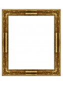 Rovescia gold and brown wooden frame