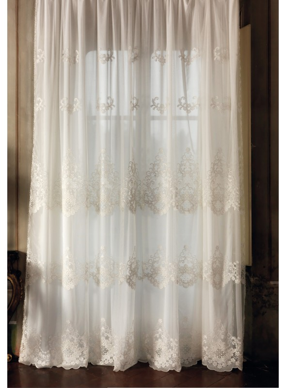 "Embroidered tulle curtain ""Londra"""