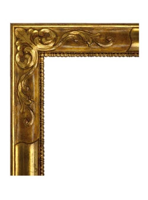 Cornice in legno Rovescia oro e marrone