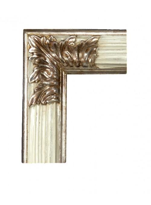 Cornice in legno Rovescia argento e bianco