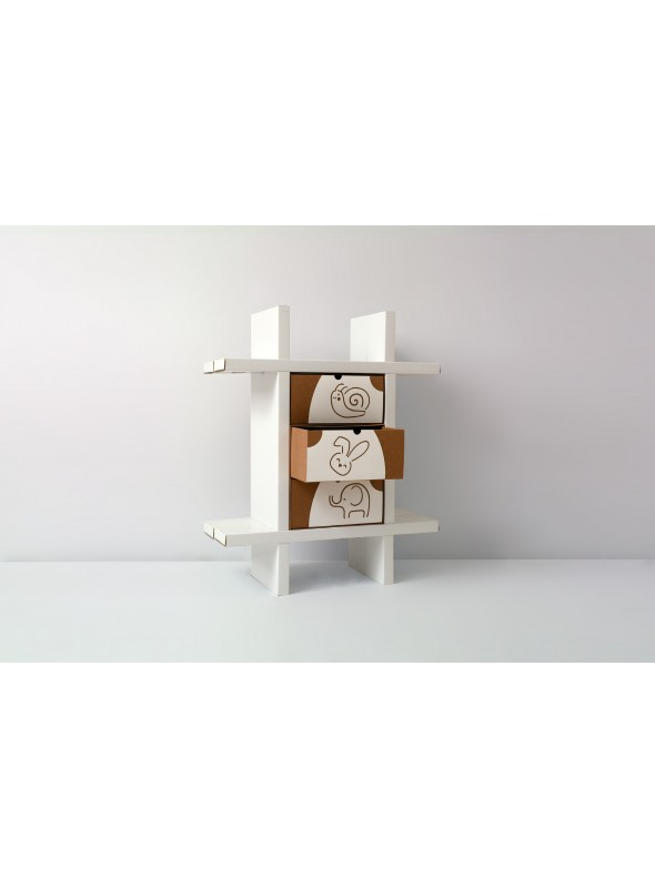 Cardboard bookcase for children
