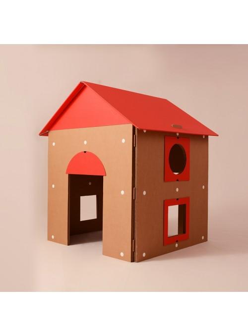 Casetta gioco con tetto apribile