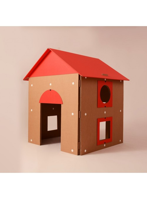 Children playhouse with opening roof