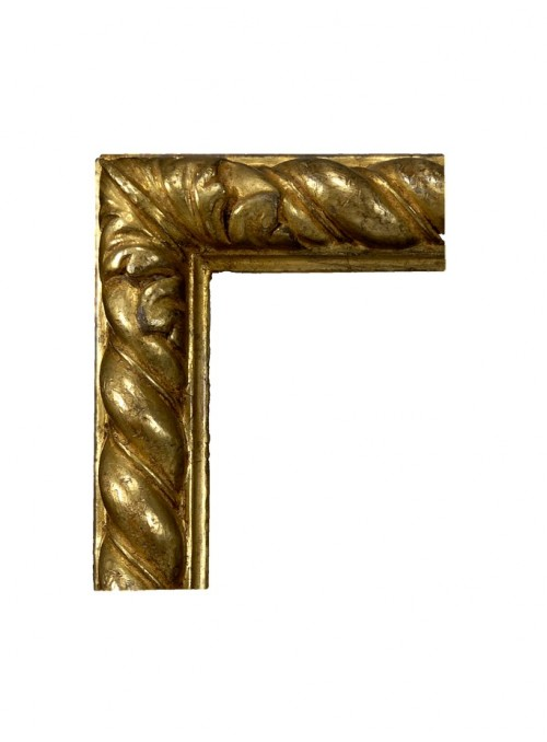 Cornice in legno Tortile oro
