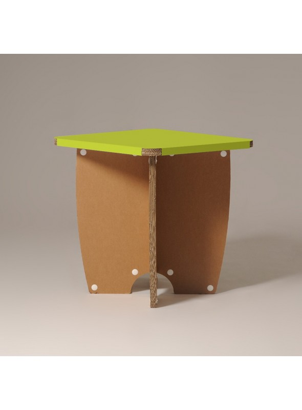 "Cardboard table ""Miss X"""