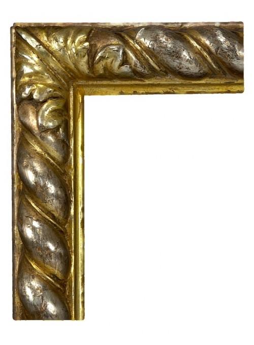 Cornice in legno Tortile argento