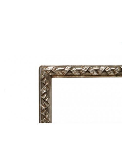 Cornice in legno Nastro argento