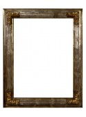 Scanalina silver wooden frame