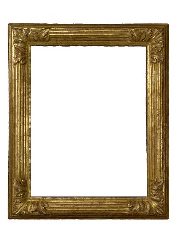 Cornice in legno Scanalina oro