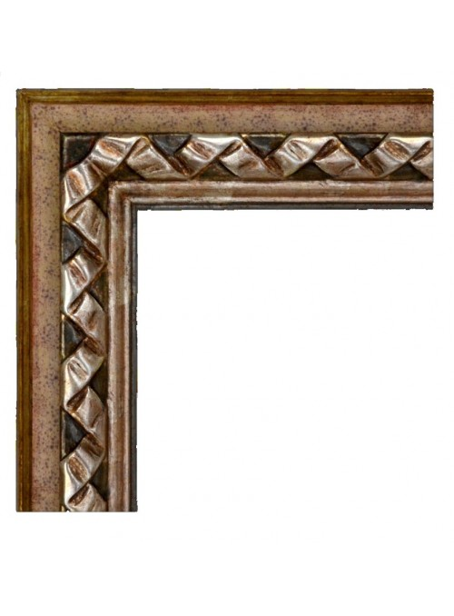 Cornice in legno Nastro 2 argento