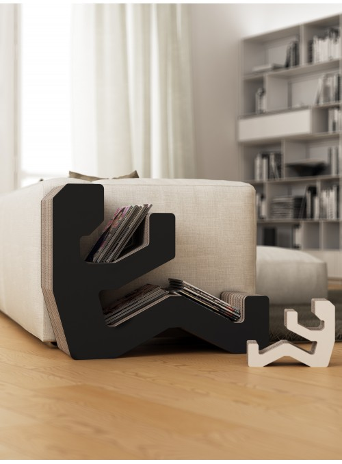"Cardboard magazine rack ""Jacky"" in graphics"