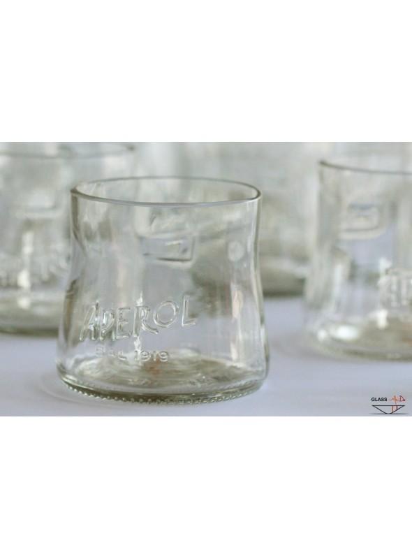 Bicchieri tumbler in vetro di recupero