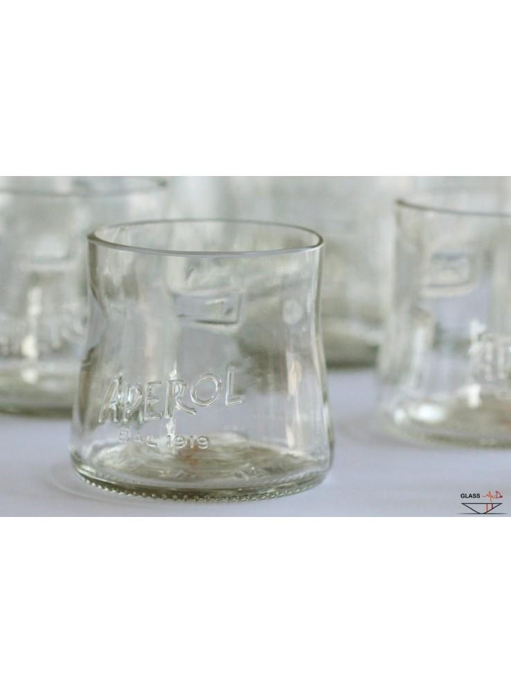 Set di bicchieri tumbler in vetro di recupero for Bicchieri aperol spritz