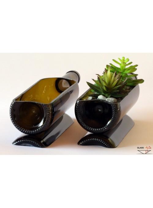 Vaso realizzato in vetro di recupero