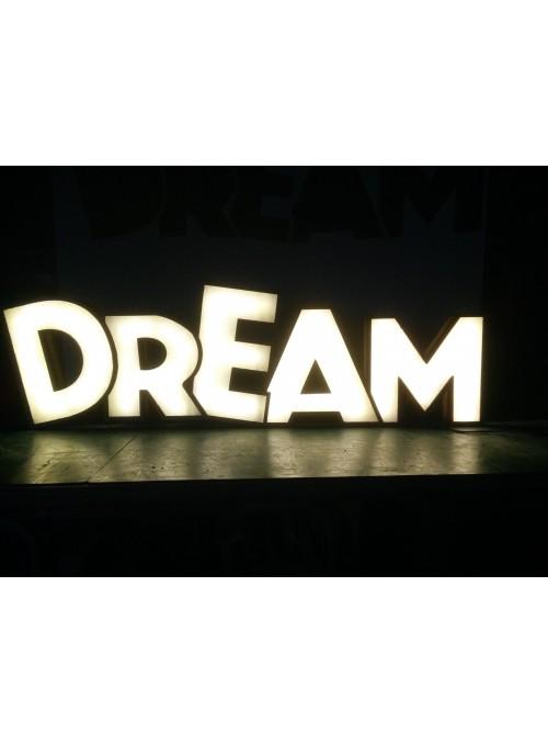 Lampada a forma di scritta - Dream