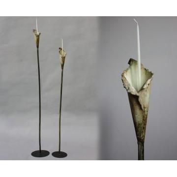 Wrought iron candle holder - Calla