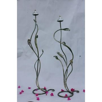 Porta candele in ferro battuto - Malacus