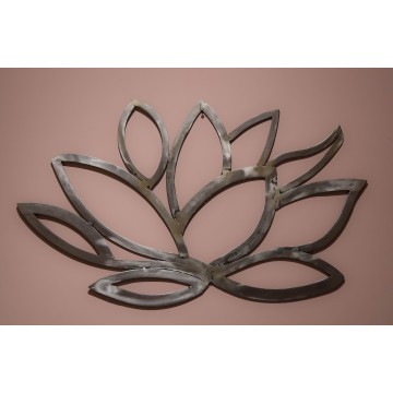 Scultura quadro in ferro battuto - Lotus