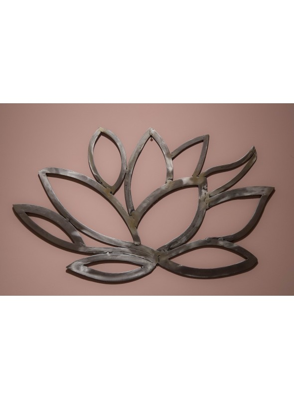 Wrought iron sculpture - Lotus