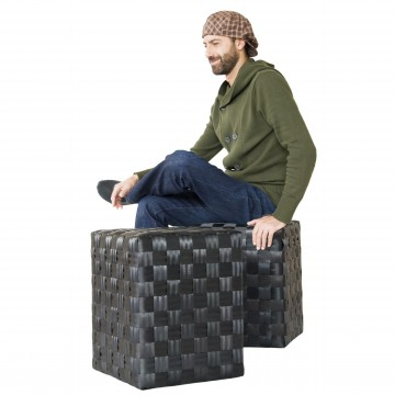 Pouf sgabello in materiale eco