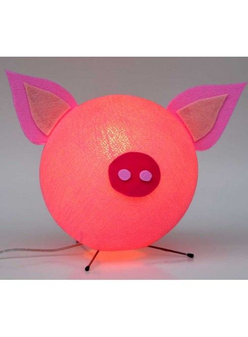 Colourful table lamp for children - Piggy