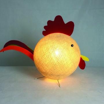 Lampada da tavolo a forma di gallo per bambini - Gally