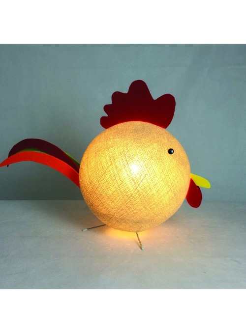 Table lamp in rooster shape for children - Gally