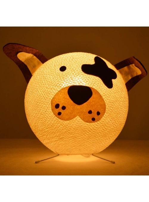 Lampada da tavolo per bambini in cotone, feltro, panno lenci - Doggy