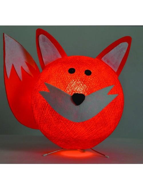 Lampada da tavolo per bambini in cotone, feltro, panno lenci - Foxy