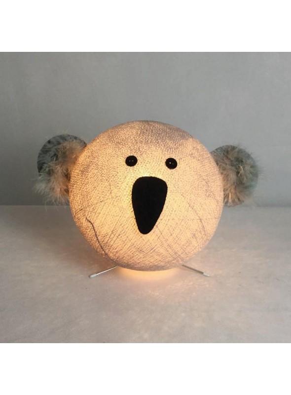 Lampada da tavolo per bambini in cotone, feltro, panno lenci - Koa