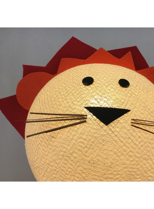 Table lamp in cotton strings and felted fabric for children - Liony