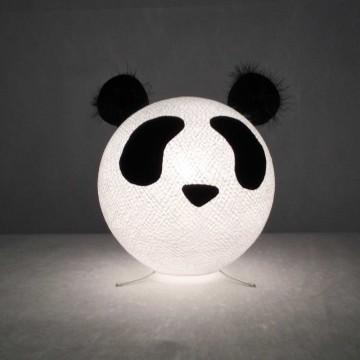 Lampada da tavolo per bambini in cotone, feltro, panno lenci - Pandy