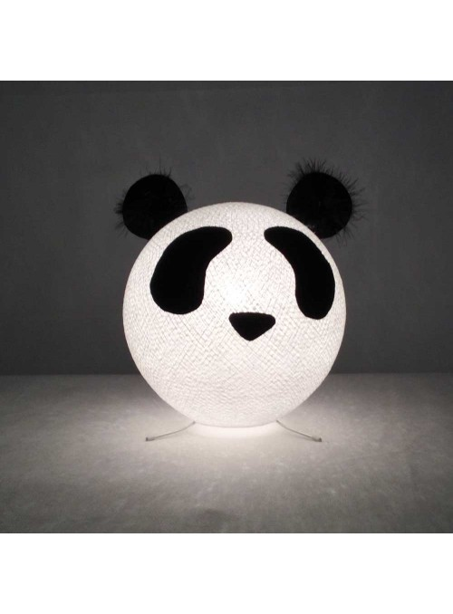 Table lamp in cotton strings and felted fabric for children - Pandy