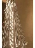 Albero di Natale in acciaio e perline