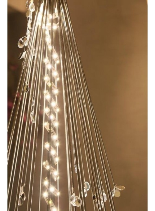Wrought iron Christmas tree with beads
