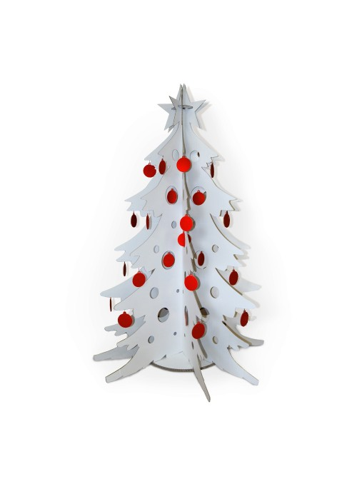 White cardboard Christmas tree
