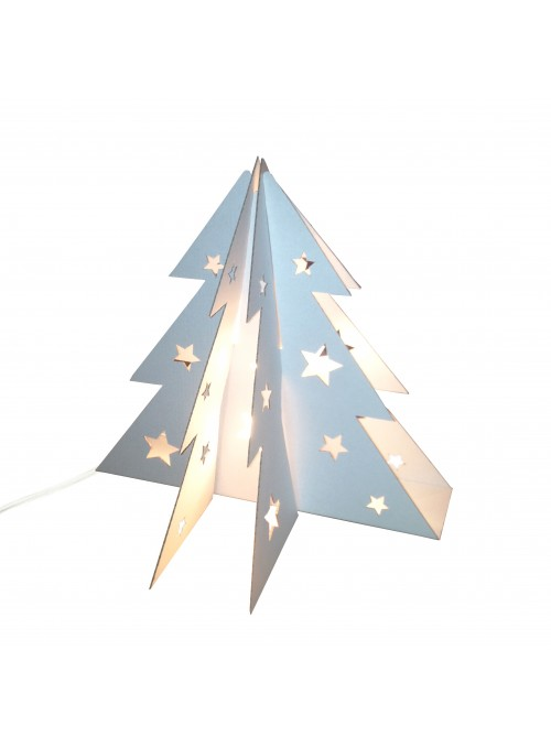 Small cardboard Christmas tree table lamp