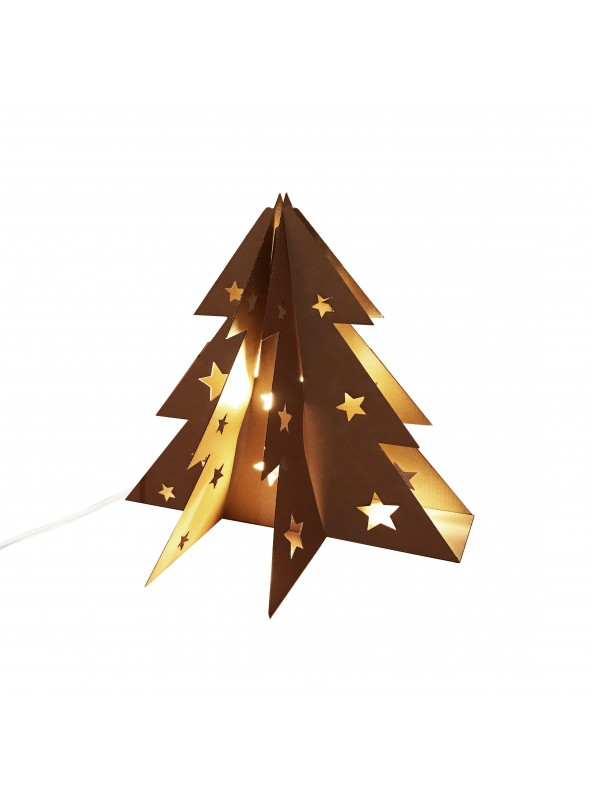 Cardboard Christmas Tree.Small Cardboard Christmas Tree Table Lamp