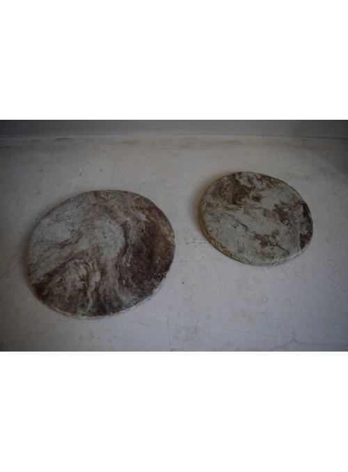 Coasters in geris mortar 4 pieces set - Cerchi