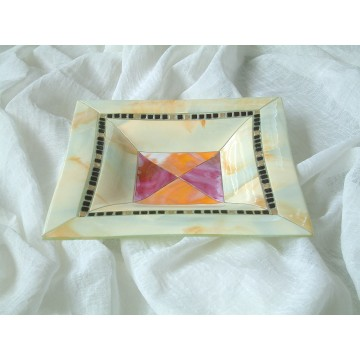 Centrotavola in vetro con mosaico - Soffice