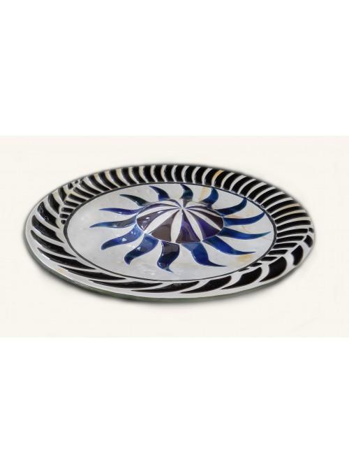 Molded glass centerpiece with mosaic - Ondina